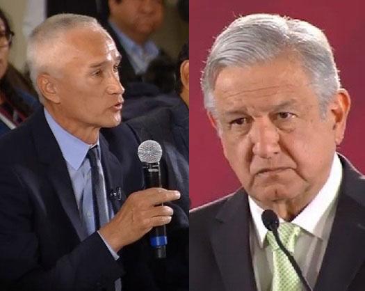Jorge Ramos le hace preguntas incómodas a AMLO.
