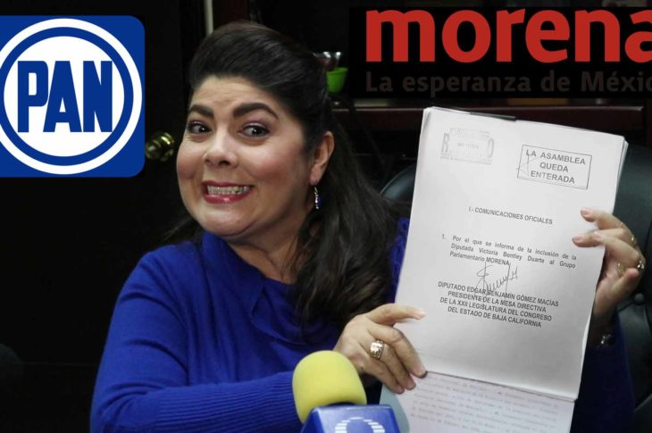 Victoria Bentley pasa del PAN a Morena.