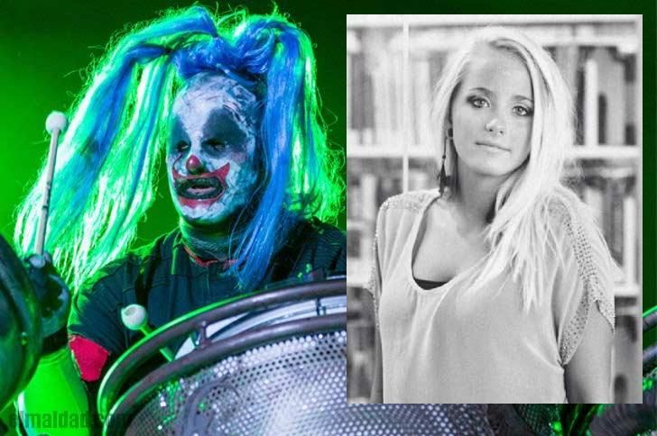 Imagen del 2019 de Clown de Slipknot y una foto de su hija fallecida.