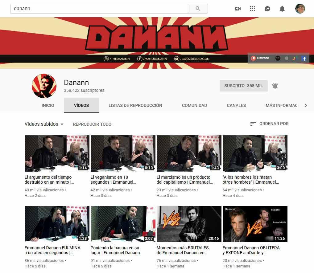 Canal de Danann en YouTube.