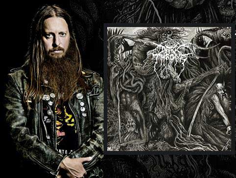 Fenriz de Darkthrone junto a la portada de Old Star.
