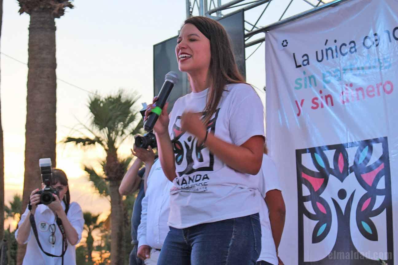 Fernanda Flores, candidata independiente.
