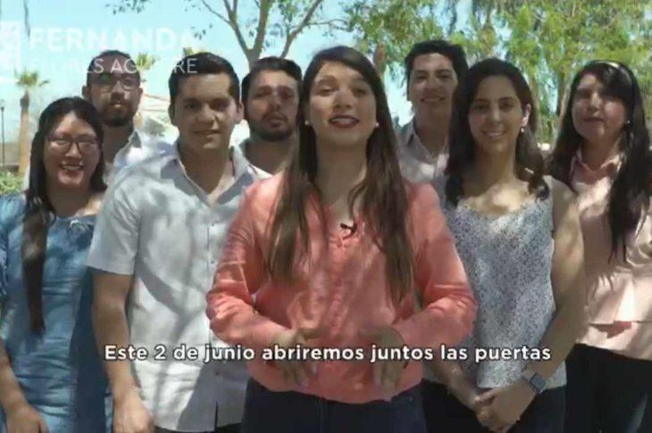 Captura de pantalla del spot de Fernanda Flores