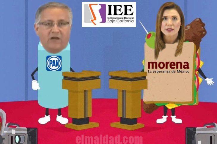 Meme sobre los candidatos punteros.