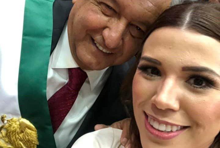 Selfie de Marina con AMLO.