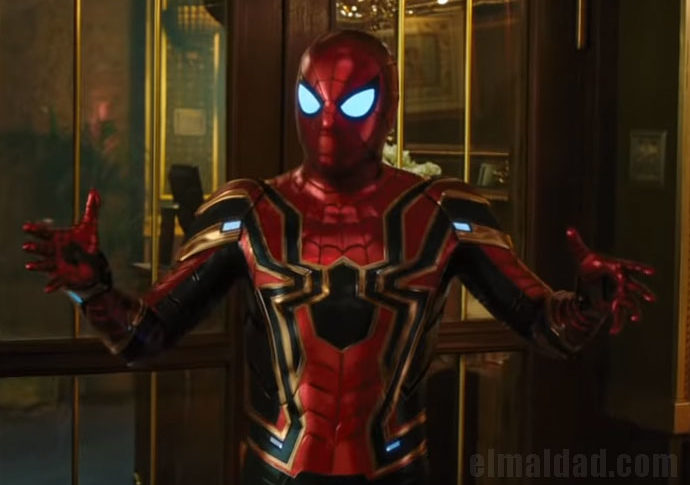 Captura de pantalla del trailer de Spiderman: Far From Home.