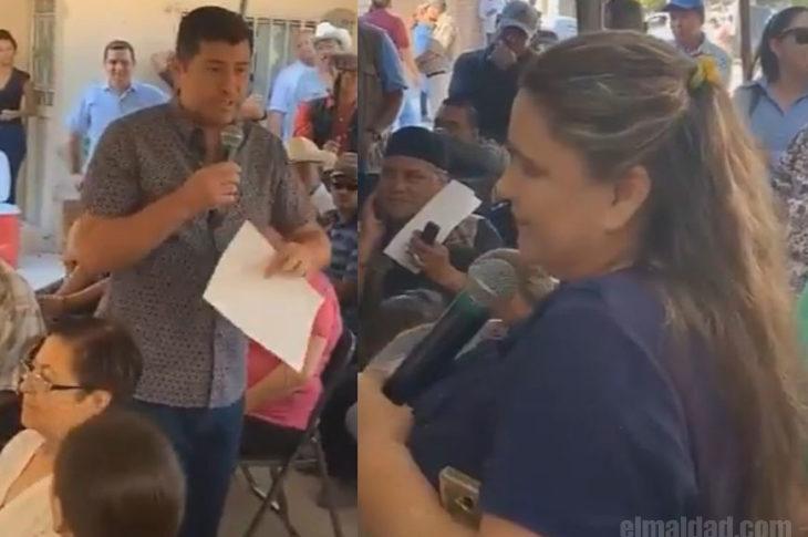 Alcalde de Ahome ofendiendo a ciudadana.