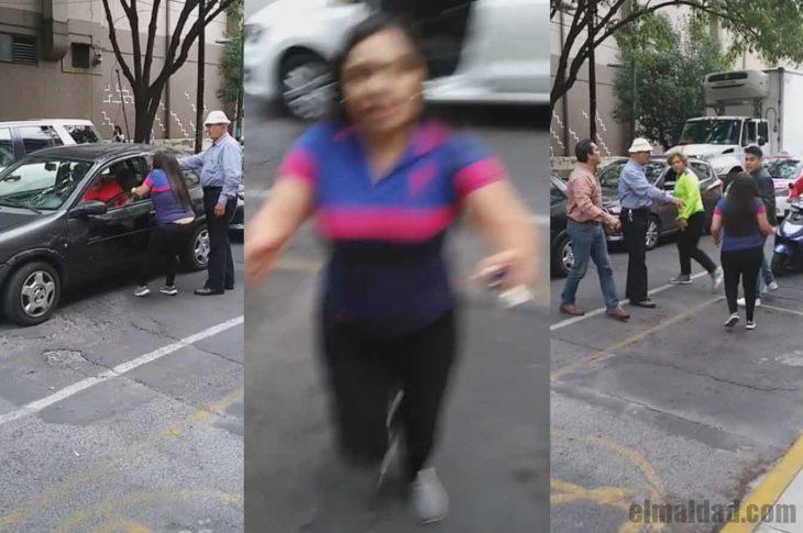 Mujer loca en accidente vial en CDMX.