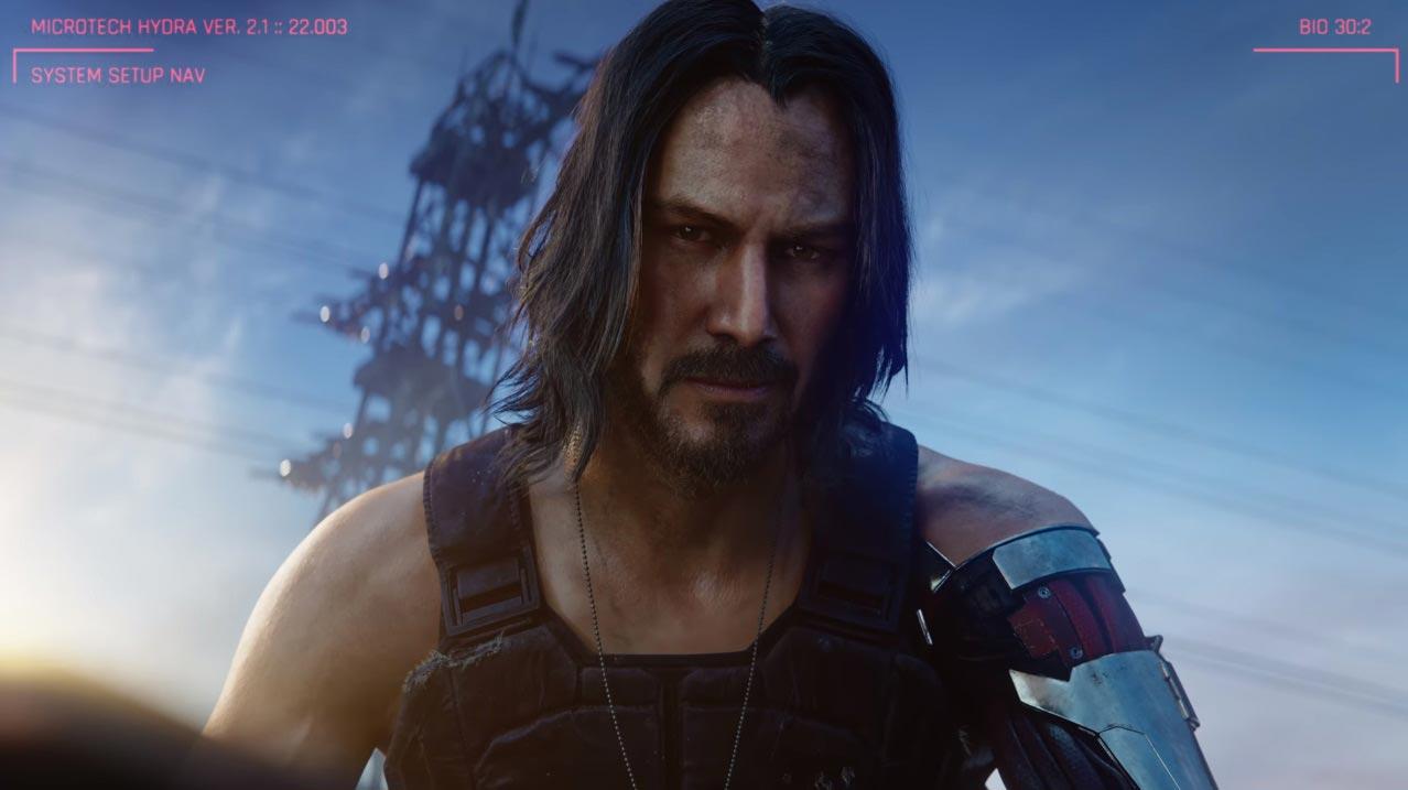 Keanu Reaves en Cyberpunk 2077.