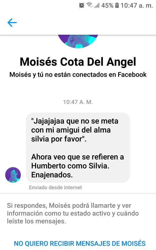 Mensaje de Moisés a Paulina.