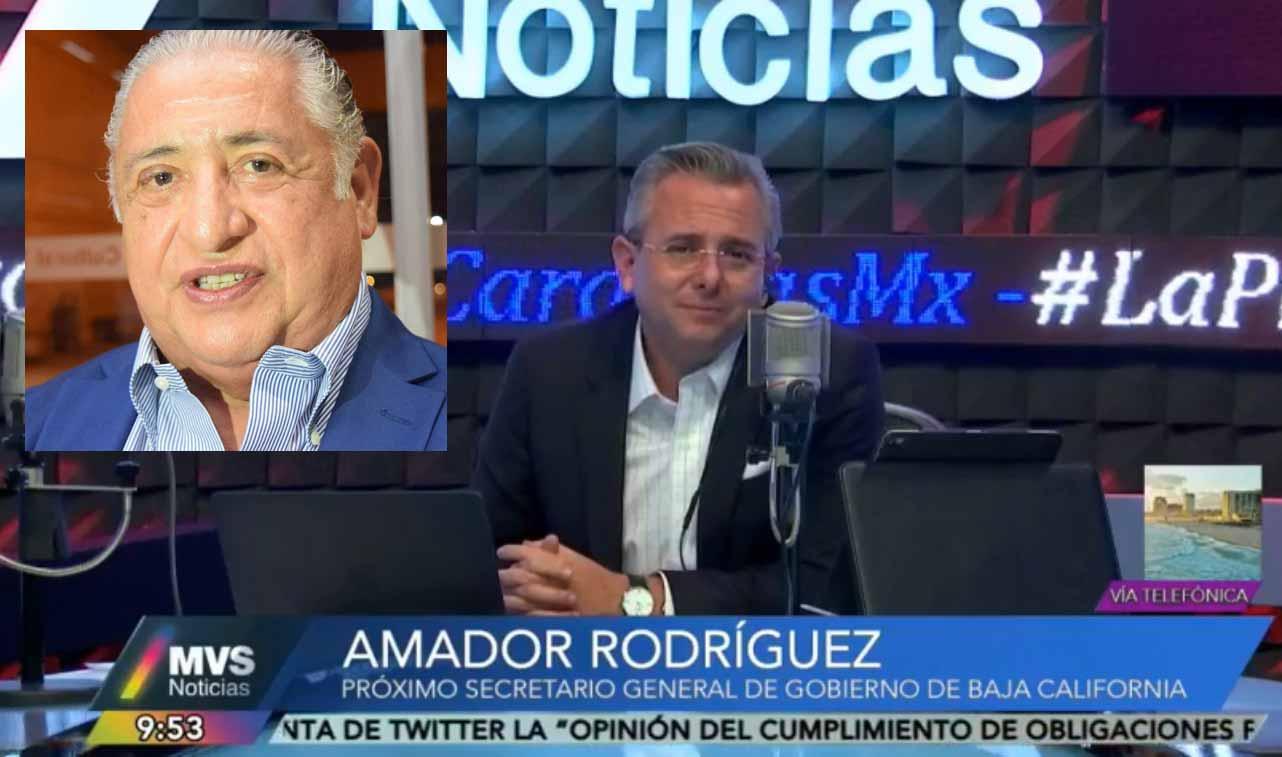 Amador Rodríguez en entrevista vía telefónica con Luis Cardenas en MVS a nivel nacional.