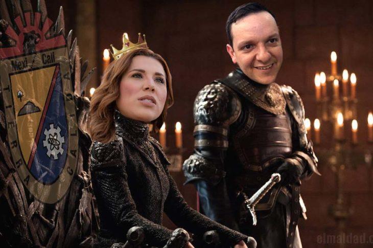 Marina del Pilar junto a Carlos Torres emulando a los Lannister de Game Of Thrones.