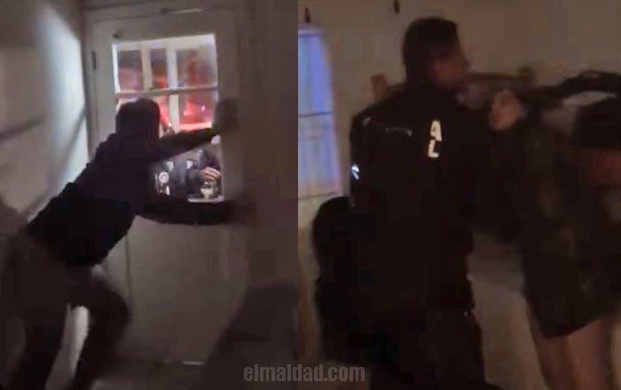 Policía irrumpe con lujo de violencia sin orden ni nada a domicilio particular en Rosario, BC.