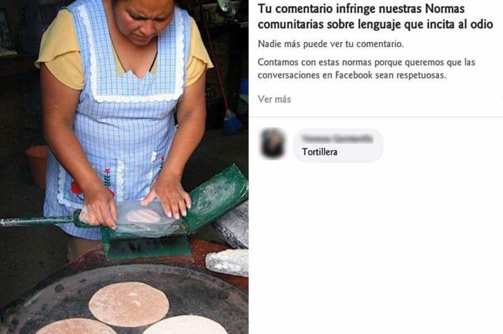 """Facebook no te dejará escribir """"tortillera""""."""