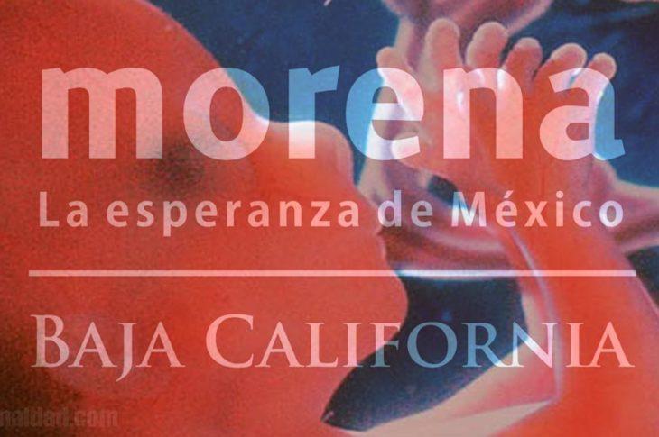 Morena BC a favor del aborto.