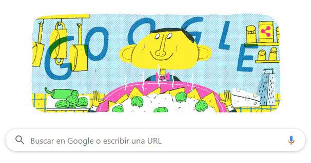 El Doodle de Ignacio Anaya, creador de los nachos.