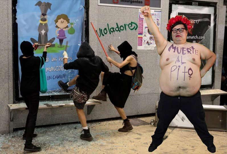 La imagen de parodia caracterizado como feminazi.