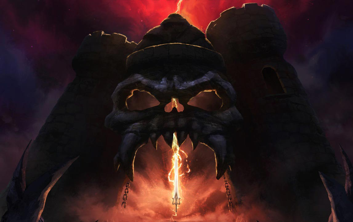 El castillo de Grayskull del poster promocional.