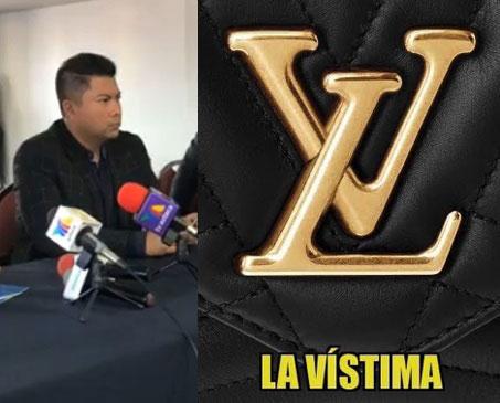 Licenciado Valerio en conferencia de prensa y a un lado un meme cuando se hizo viral.