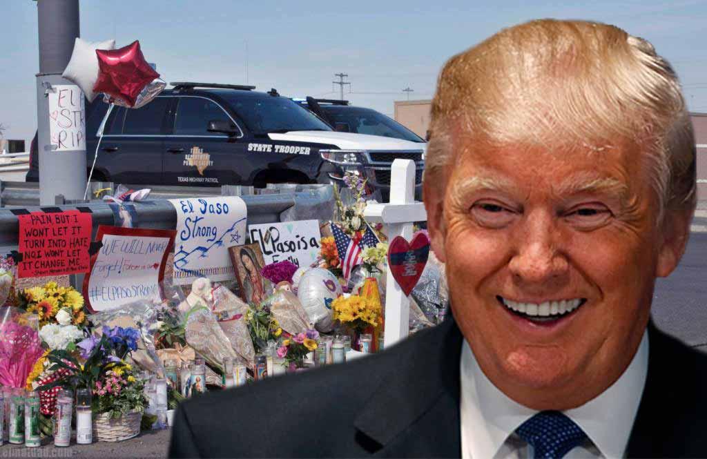 Trump rió hace unos meses en un posible escenario de que norteamericanos dispararan a migrantes ilegales.