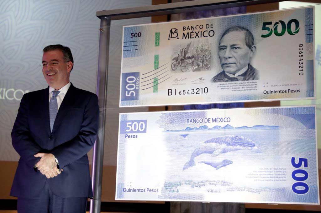 Presentación del nuevo billete de 500 pesos.