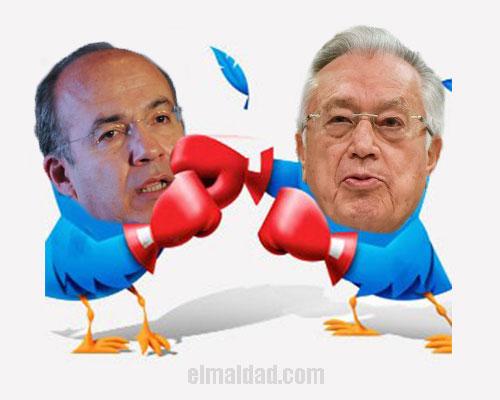 Pelea entre Calderón y Barttlet.