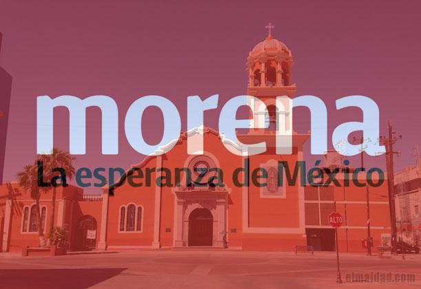 Morena Mexicali tomará el poder en la catedral de Mexicali según El Universal.