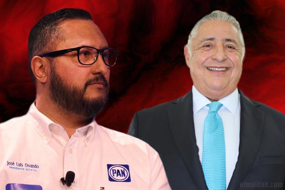 José Luis Ovando Patrón, presidente del PAN en BC y Amador Rodríguez Lozano, secretario del gobierno estatal de la próxima administración.