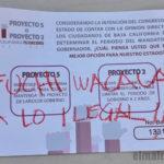 Boleta nula de la consulta patito de Morena BC.