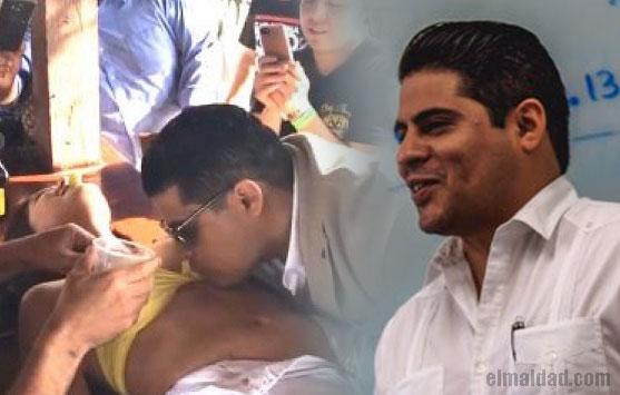 Le retiran su nombramiento a Jesús Pereira por beber del cuerpo de una chica.
