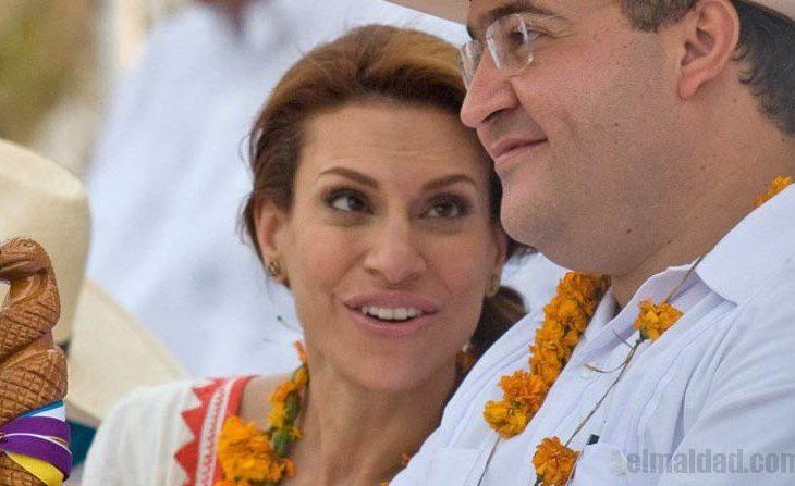 Karime Macías junto a su esposo Javier Duarte.