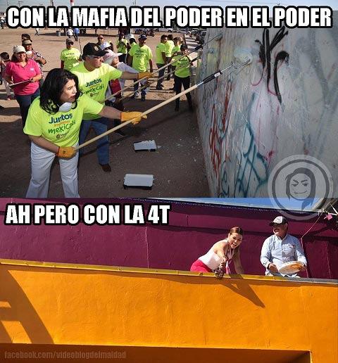 Meme de la foto del panista y de la morenista.