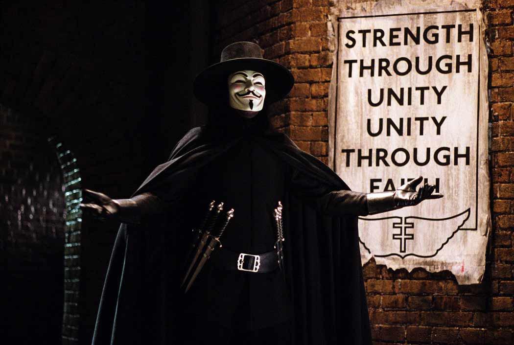 V, el personaje de V Of Vendetta.