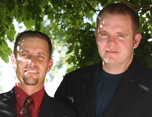 Benjamín y Luis, asesinados por el crimen organizado.