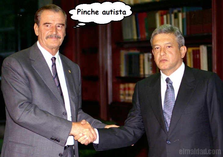 Vicente Fox con AMLO hace algunos ayeres.