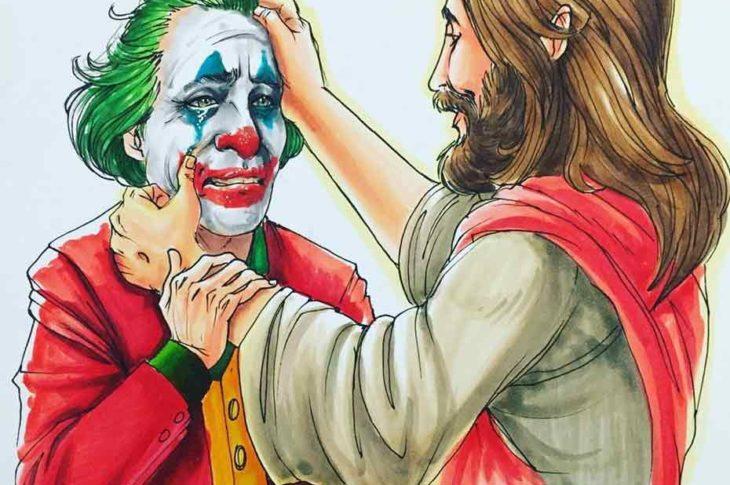 Joker con Jesucristo.