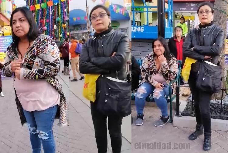 Señoras en Tijuana discriminando a pareja gay en una plaza comercial.