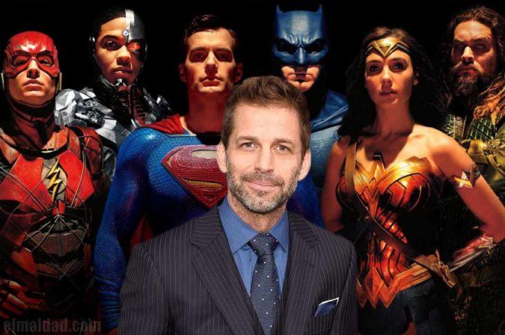 La liga de la justicia junto a Zack Snyder.