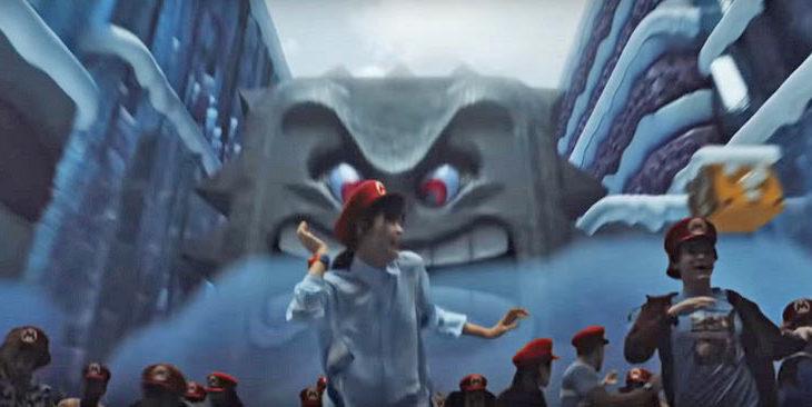 Una imagen que aparece en el promocional de Super Nintendo World.