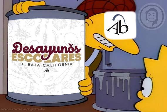 Meme de los Desayunos Escolares de Bonilla.