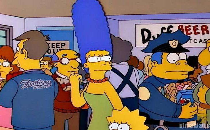 Compras de pánico en Los Simpson.