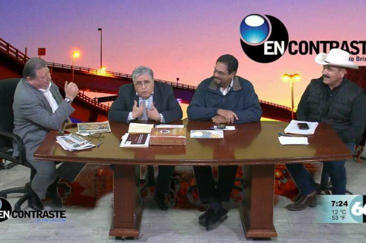 De izquierda a derecha: Pablo Brizuela, Témoc Ávila, Modestos Ortega y Rigoberto Campos en el programa En Contraste.