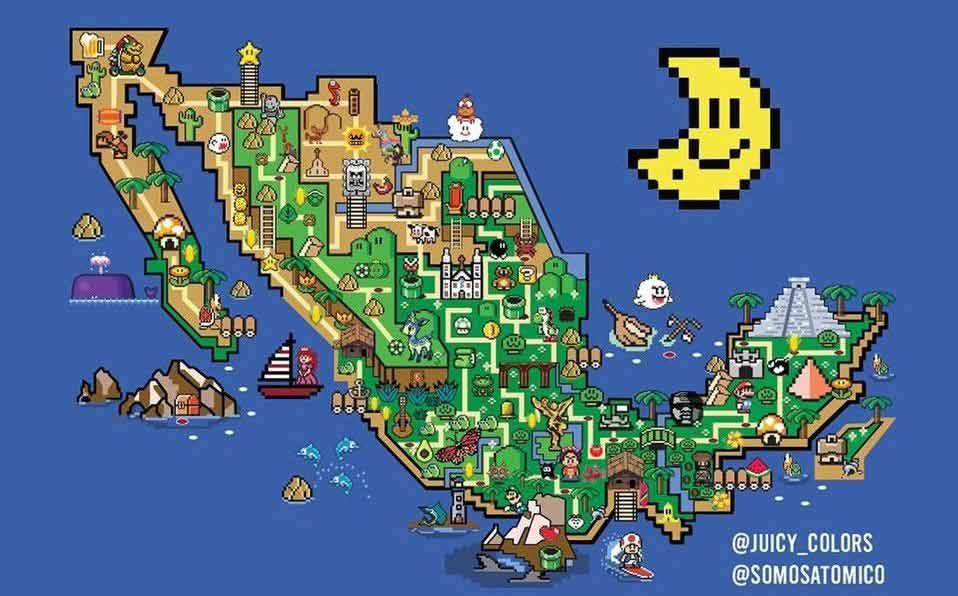 México con temática de Super Mario World.