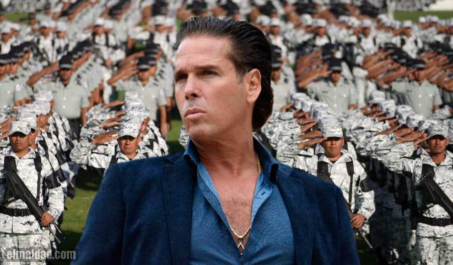 El mirrey Roberto Palazuelos fue escoltado por elementos de la Guardia Nacional.