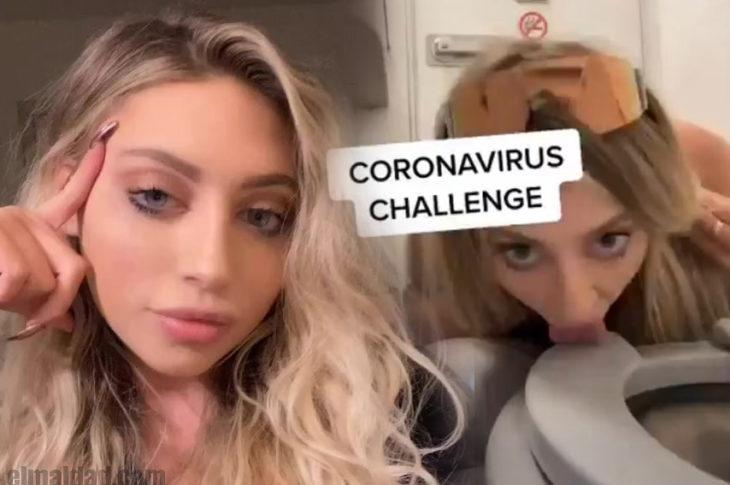 Ava Louise realizando el Coronavirus Challenge.