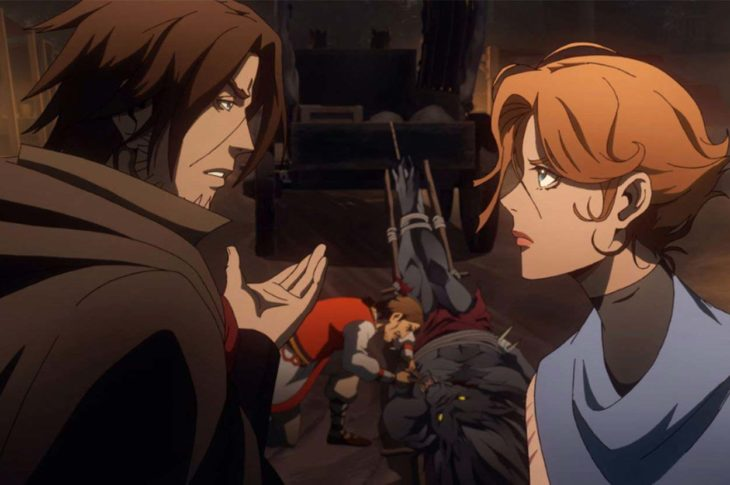 Escena de la tercera temporada de Castlevania.