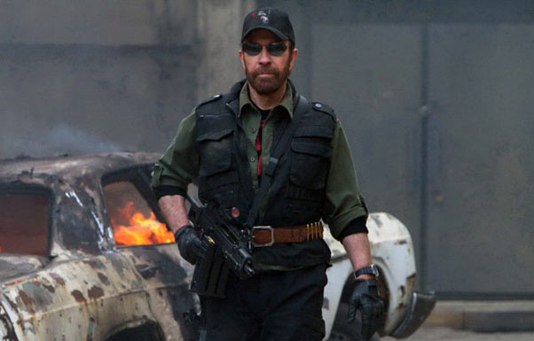 Chuck Norris en The Expendables (2012).