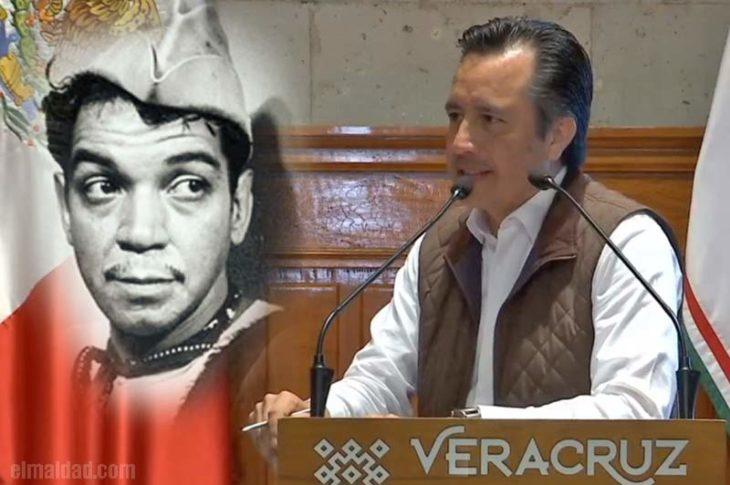 El gobernador de Veracruz cantinfleó.