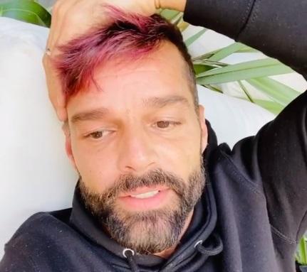 Ricky Martin en su video de Instagram.