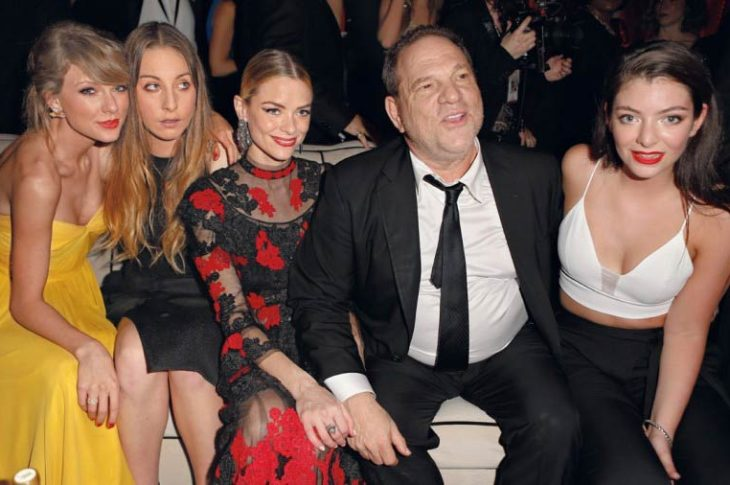 Harvey Weinstein con actrices de Hollywood.